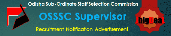 OSSSC Supervisor Recruitment 2016 Online Application Form