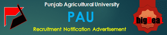 PAU Recruitment 2016 Application Form
