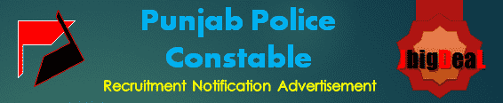 Punjab Police Constable Recruitment 2016 Online Application Form
