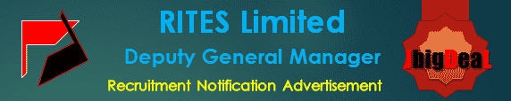 RITES Limited Deputy General Manager Recruitment 2016 Online Application Form
