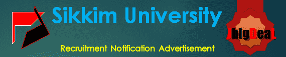 Sikkim University Recruitment 2017 Online Application Form