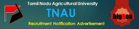 TNAU Recruitment 2018 Application Form