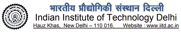 IIT Delhi Recruitment 2018 Online Application Form