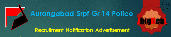 Aurangabad Srpf Gr 14 Police Recruitment 2018 Online Application Form