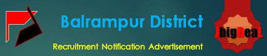 Balrampur District Recruitment 2018 Application Form
