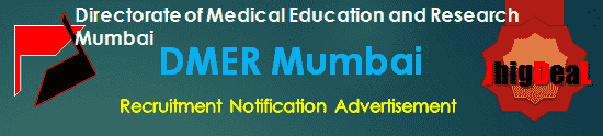 DMER Mumbai Recruitment 2018 Online Application Form