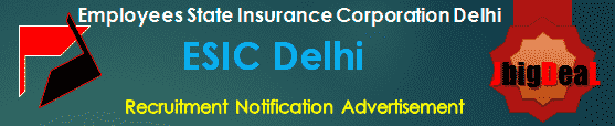 ESIC Delhi Recruitment 2018 Application Form