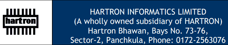 HARTRON Limited Recruitment 2018 Application Form