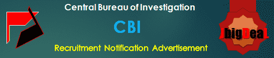 CBI Recruitment 2018 Application Form