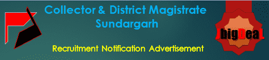 Collector & District Magistrate Sundargarh Recruitment 2018 Application Form