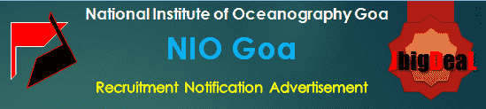 NIO Goa Recruitment 2018 Online Application Form