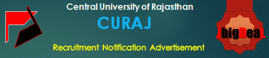 CURAJ Recruitment 2018 Online Application Form