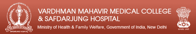 VMMC Safdarjung Hospital Junior Resident Recruitment 2020 Application Form