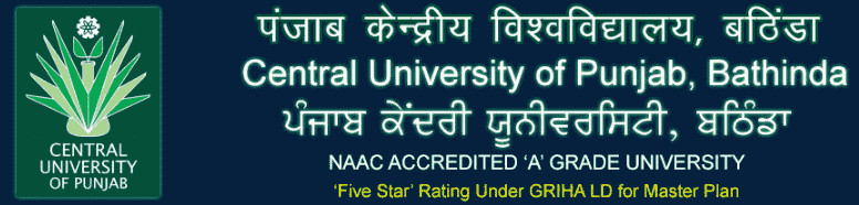 Central University Punjab Recruitment 2021 Online Application Form