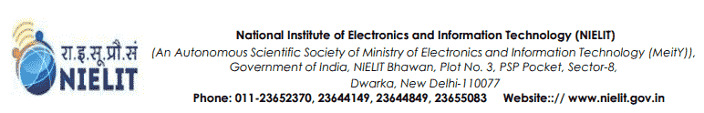 NIELIT Recruitment 2018 Online Application Form