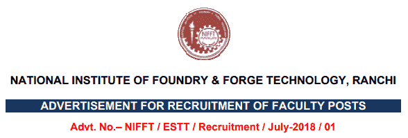 NIFFT Recruitment 2018 Application Form