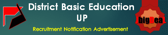 District Basic Education UP Recruitment 2018 Application Form