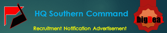 HQ Southern Command Recruitment 2018 Application Form