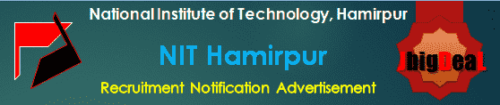 NIT Hamirpur Assistant Professor, Associate Professor & Professor Recruitment 2019 Application Form
