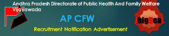 AP CFW Recruitment 2018 Application Form