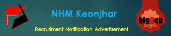NHM Keonjhar Recruitment 2018 Application Form
