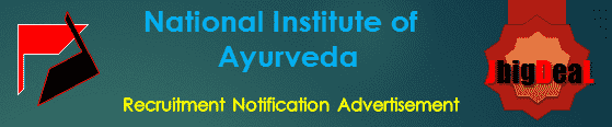 National Institute of Ayurveda Recruitment 2018 Application Form