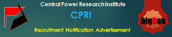 CPRI Recruitment 2018 Application Form