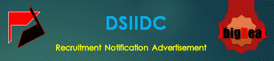 DSIIDC Recruitment 2021 Application Form