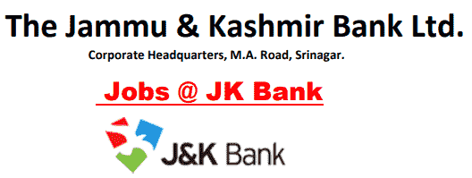 Jammu & Kashmir Bank Recruitment 2018 Online Application Form