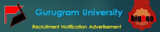Gurugram University Recruitment 2018 Application Form