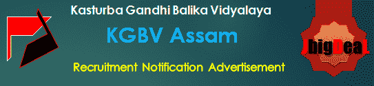 KGBV Assam Recruitment 2018 Application Form