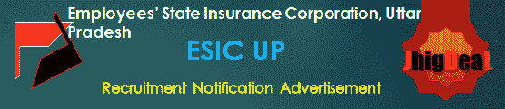 ESIC UP Recruitment 2018 Application Form