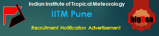 IITM Pune Recruitment 2018 Online Application Form