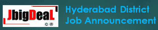 Hyderabad District Recruitment 2019 Online Application Form