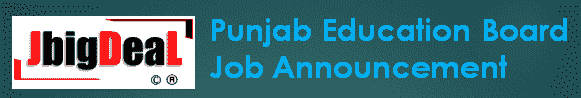 Punjab Education Board Recruitment 2019 Online Application Form