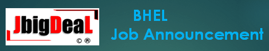 BHEL Recruitment 2021 Online Application Form