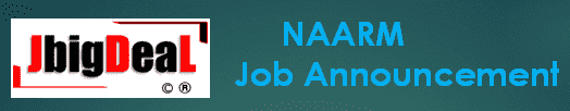 NAARM Recruitment 2019 Application Form