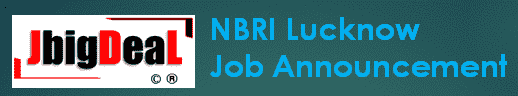 NBRI Lucknow Scientist Recruitment 2019