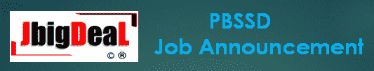 PBSSD Data Entry, Block Level Staff, Project Manager Recruitment 2020 Online Application Form