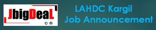 LAHDC Kargil Class IV Recruitment 2019 Application Form