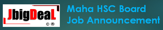 Maha HSC Board Junior Clerk Recruitment 2019 Online Application