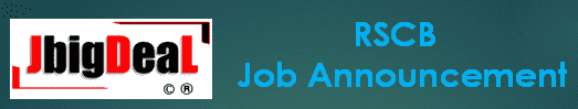 RSCB Banking Assistant, Manager, etc. Recruitment 2019 Online Application Form