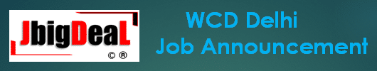 WCD Delhi Consultant, Block Coordinator & Other Recruitment 2020 Online Application Form