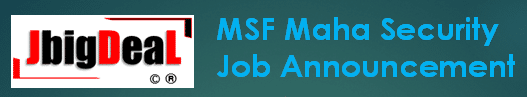 MSF Maha Security Recruitment 2020 Online Application Form