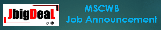 MSCWB Sub-Assistant Engineer and Assistant Engineer Recruitment 2020 Online Application Form