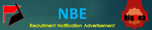 NBE Senior Resident, Junior Assistant & Other Recruitment 2020 Online Application Form