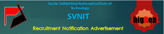 SVNIT Recruitment 2021 Online Application Form