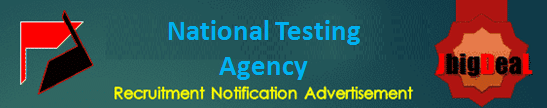 National Testing Agency Recruitment 2021 Online Application Form